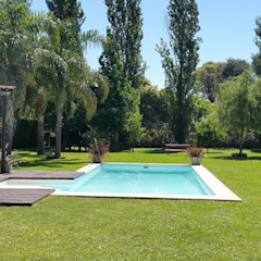 Hồ bơi phong cách Địa Trung Hải bởi Estudio Victoria Suriguez Địa Trung Hải