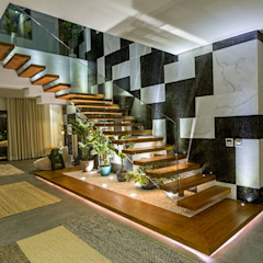 Marassi Villa إنتقائي، أسلوب، الرواق، رواق، &، درج من Grid Fine Finishes إنتقائي