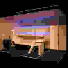 Sauna Modern Line z prysznicem od Sauna Line Sp. z o.o. Nowoczesny Drewno O efekcie drewna