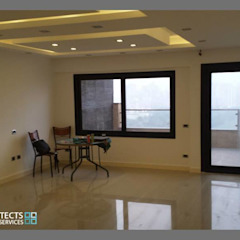 Private Apartment الممر الحديث، المدخل و الدرج من Module حداثي