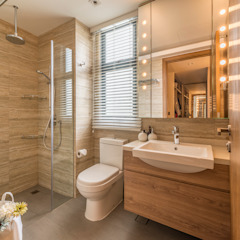 Design & Build: Condominium @ Eunos (Modern Scandinavian) Modern bathroom by erstudio Pte Ltd Modern