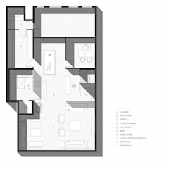 Basement Plan: modern  by mold design studio,Modern