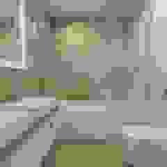 Dom szeregowy, Gdańsk Kolonialna łazienka od Interior Idea Projektowanie Wnętrz Kolonialny Ceramiczny