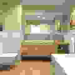 Mieszkanie Gdańsk Wrzeszcz Śródziemnomorska łazienka od Interior Idea Projektowanie Wnętrz Śródziemnomorski