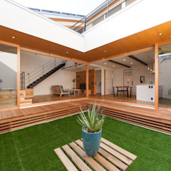 開閉の家 トロピカルな 庭 の STaD(株式会社鈴木貴博建築設計事務所) トロピカル