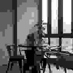 Cozy corner Spasi Architects Gastronomi Gaya Industrial Beton Grey
