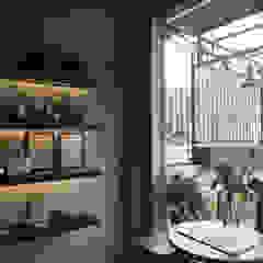 Interior Spasi Architects Gastronomi Gaya Industrial Beton Grey