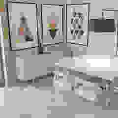 Sala de estar 50m² Salas de jantar escandinavas por Carolina Mendes Arquiteta Escandinavo