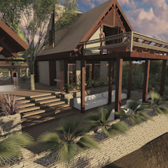 SPA HOTEL IBIZA Spa de estilo rústico de EDUARDO NOVOA ARQUITECTO INDEPENDIENTE Rústico Madera maciza Multicolor