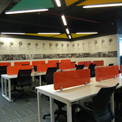 Workstations Ravi Prakash Architect Eclectic style study/office Engineered Wood Multicolored