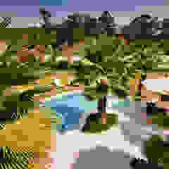 Tropical style gardens by Maria Luiza Aceituno arquitetos Tropical