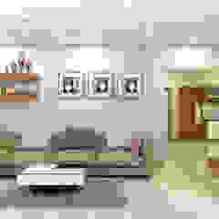 Ruang Keluarga Gaya Asia Oleh shree lalitha consultants Asia Kayu Lapis