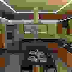 Cozinha por Gabriela Cardoso Arquitetura Industrial Madeira Efeito de madeira