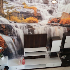 Wall Modern living room by Arch Point Modern