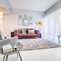 Querido Mudei a Casa - Ep 2607 Salas de estar industriais por Santiago | Interior Design Studio Industrial
