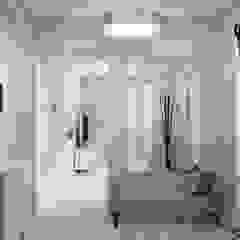 Scandinavian style corridor, hallway& stairs by Гузалия Шамсутдинова | KUB STUDIO Scandinavian