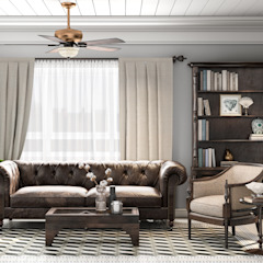 Colonial style - Tropic garden apartment Koloniale Wohnzimmer von V Design Studio Kolonial