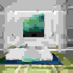 Minimalist interior design Minimalist bedroom by Tamriko Interior Design Studio Minimalist