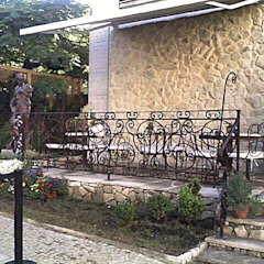 Obra Casa Cor SP Kolonialer Garten von STUDIO AGUIAR E DINIS Kolonial