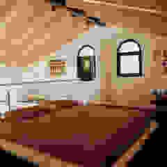 Appartamento 65 mq. DELFINETTIDESIGN Camera da letto minimalista Legno Bianco