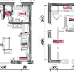 Appartamento 65 mq. DELFINETTIDESIGN Pavimento Legno Effetto legno