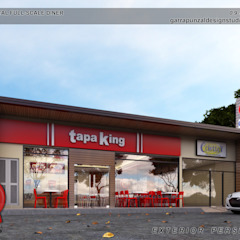Fast Food Restaurant by Garra + Punzal Architects Modern