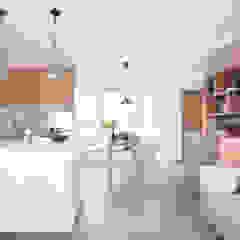 Cherry Crest Scandinavian style dining room by Clifton Leung Design Workshop Scandinavian