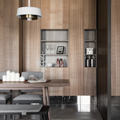 [HOME] Tenten Interiors - 心沐和居 러스틱스타일 다이닝 룸 by KD Panels 러스틱 (Rustic) 우드 우드 그레인