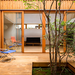 Eclectic style conservatory by 中山大輔建築設計事務所/Nakayama Architects Eclectic
