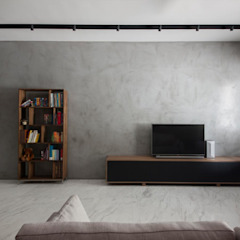 JALAN TANJONG Industrial style living room by Eightytwo Pte Ltd Industrial Wood Wood effect