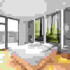 Kemerburgaz LIVERA Suites - Örnek Daire Tasarımı İskandinav Yatak Odası Kolon Mimarlık - İçmimarlık İskandinav