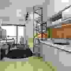 Apartamento Studio 35m² por Juliana Azanha | Arquitetura e Interiores Industrial MDF