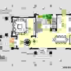 Mặt bằng tầng 1 mẫu thiết kế biệt thự đẹp 4 tầng Cổ điển KT16071 bởi Công Ty CP Kiến Trúc và Xây Dựng Betaviet