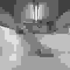 Gimnasios domésticos de estilo moderno de 有限会社角倉剛建築設計事務所 Moderno Concreto