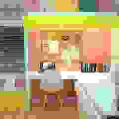 Kassia Rosa Designer de Interiores Stanza dei bambiniAccessori & Decorazioni MDF Rosa