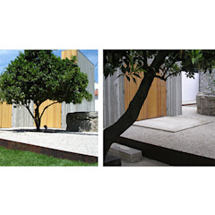 Habitação de Chamusca da Beira, Portugal Jardins ecléticos por Margem Arquitectura Paisagista Lda Eclético