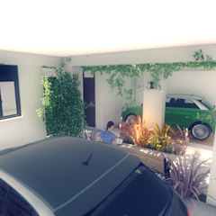 PROYECTO CASA MP. Garajes modernos de efeyce Moderno