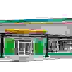 งานก่อสร้าง อาคารสหกรณ์การเกษตร โดย Lucrative 9 Interior Design and Construction co.,ltd. ผสมผสาน