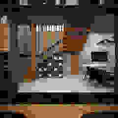 Industrial style corridor, hallway and stairs by Zero field design studio Industrial