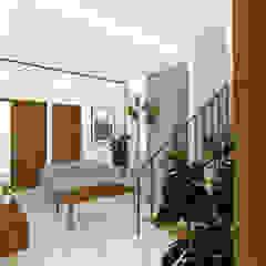 Interior Rumah Pondok Tjandra Ruang Keluarga Tropis Oleh SEKALA Studio Tropis Kayu Wood effect