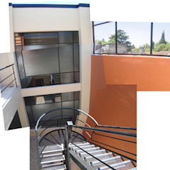 Estacionamiento M de Estudio D3B Arquitectos Moderno Metal