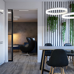 Industrial style dining room by Оксана Мухина Industrial