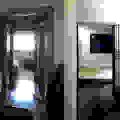 잠실 아파트 리모델링 - 미니멀 한옥 아시아스타일 미디어 룸 by 주식회사 착한공간연구소 한옥 우드 우드 그레인