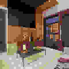 现代客厅設計點子、靈感 & 圖片 根據 Studio Rhomboid 現代風