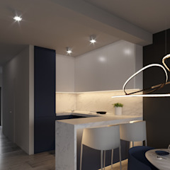 Wnętrze apartamentu 120m2 w Dąbrowie Górniczej od Ale design Grzegorz Grzywacz Minimalistyczny