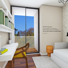 Edifício de luxo 'Douro Crystal Gardens' - 28 Apartamentos, Palácio de Cristal - PORTO Quartos escandinavos por SHI Studio, Sheila Moura Azevedo Interior Design Escandinavo