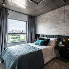 Industrial style bedroom by Débora Vassão Arquitetura e Interiores Industrial