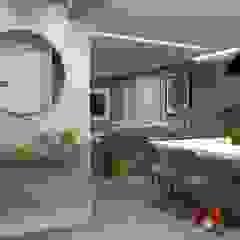 DOMO HOME- SBC Corredores, halls e escadas modernos por LAM Arquitetura   Interiores Moderno