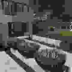 Ogród minimalistyczny Minimalistyczny ogród od MIA studio Minimalistyczny