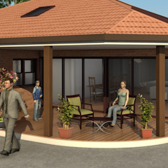 Exterior Architectural Rendering by 3D Rendering India Modern